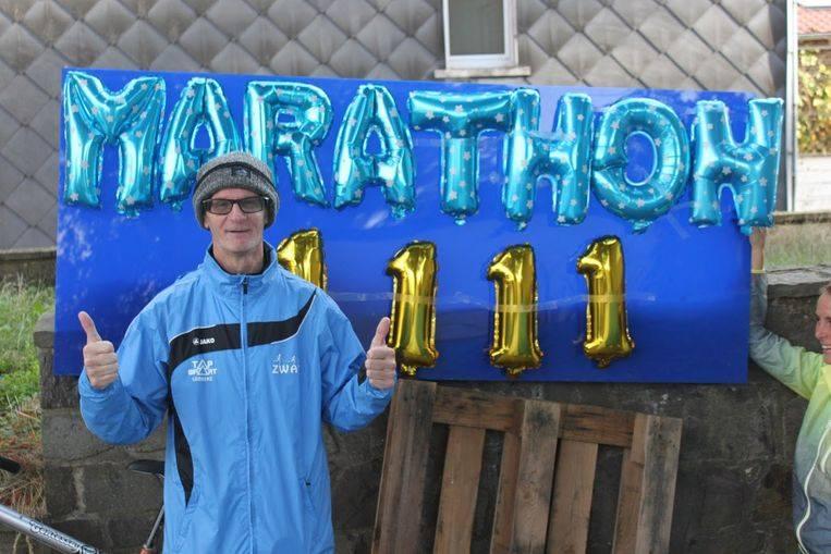 Patrick Kloek loopt 1111e marathon op, jawel, je leest het goed, 11 november om 11u11!